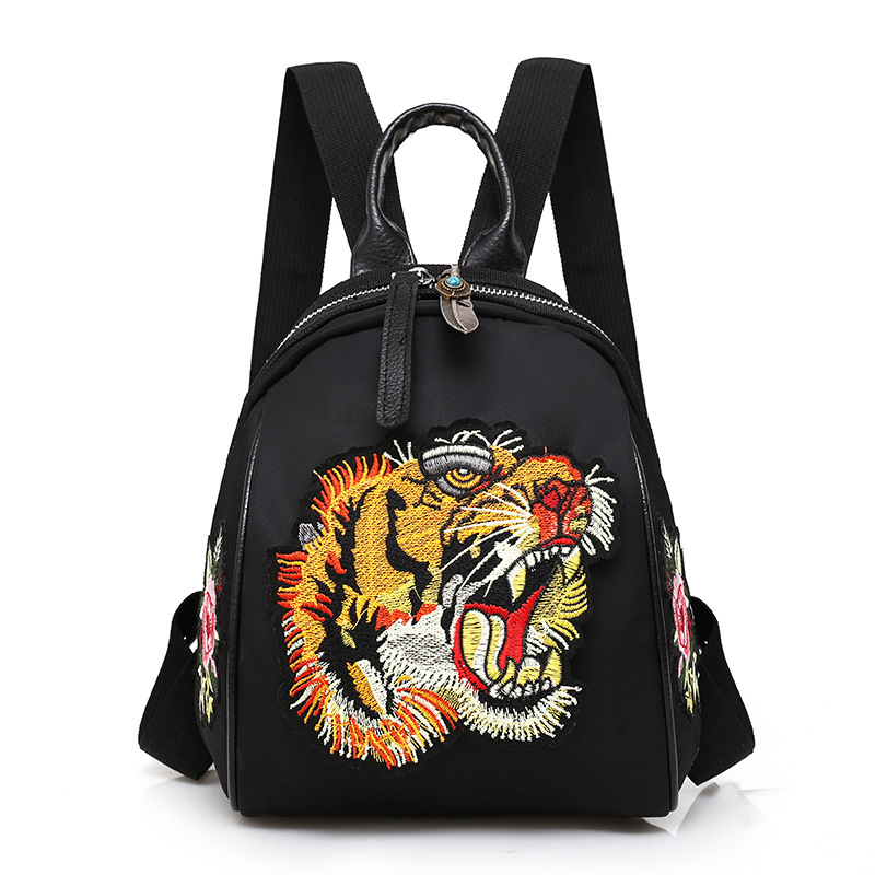 new fashion backpack of 2018 springpreppy style embroidery double shoulder bag ladys bag Preppy Style Animal Prints backpacks