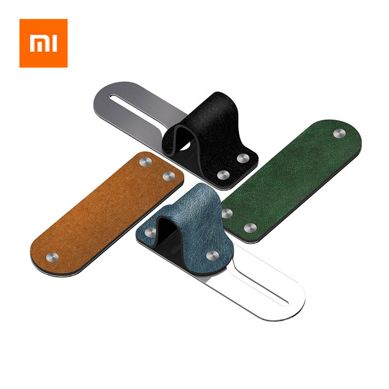 Xiaomi Finger Ring Holder Leather+Stainless Steel Mobile Phone Grip Car Phone Mount Stand For iPhone XS/X/8/7/6 Huawei Samsung-in Phone Holders & Stands from Cellphones & Telecommunications
