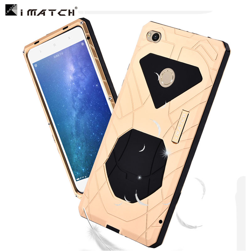 Original IMatch Case For Xiaomi Mi Max 2 Luxury Waterproof Shockproof Hard Metal Silicone Case Full