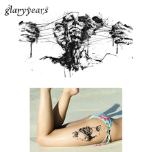 1 Sheet Flower Arm DIY Decal Temporary Tattoo KM-098 Black Fake Avulsion Face Design Women Men Body Chest Art Tattoo Sticker Ink