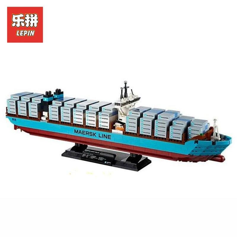 Здесь можно купить  Lepin 22002 New 1518Pcs Genuine Technic Series Maersk Line Triple-E Toys for boys model Building Blocks Bricks LegoINGlys 10241  Игрушки и Хобби