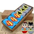 Mujeres libres del envío de superhéroes y villanos lindo héroe de dibujos animados calcetines Set incluye 6 pares