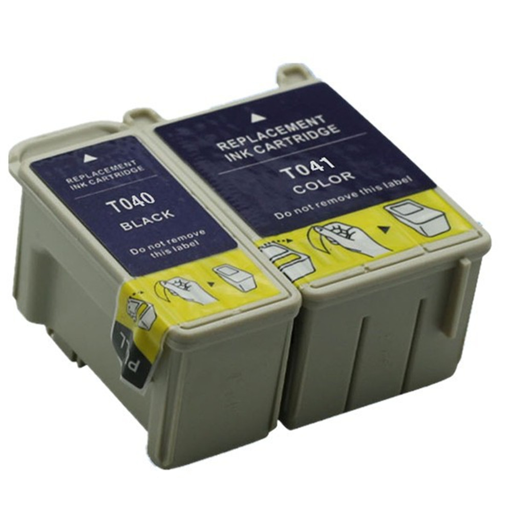 Replacement T040 T041 With Chip Ink Cartridges Cartridge For Stylus C62 CX3200 C-<font><b>62</b></font> C-X3200 C <font><b>62</b></font> CX 3200 image