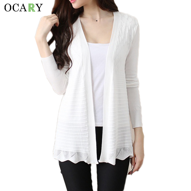 Lace Up Women Sweaters Knitted Long Cardigan Spring Summer ...