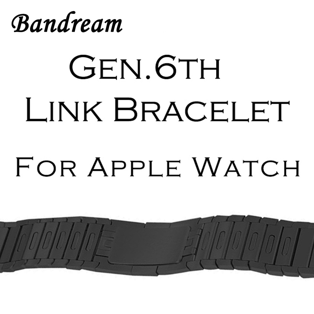 Gen 6 Link Bracelet 1:1 for iWatch Apple Watch 38mm 42mm Series 3 2 1 Watchband Hand Detachable Band Butterfly Clasp Wrist Strap large size 42 rhinestone shoes women low heel pumps pointed toe genuine leather shoes women high heels mary janes ladies shoes