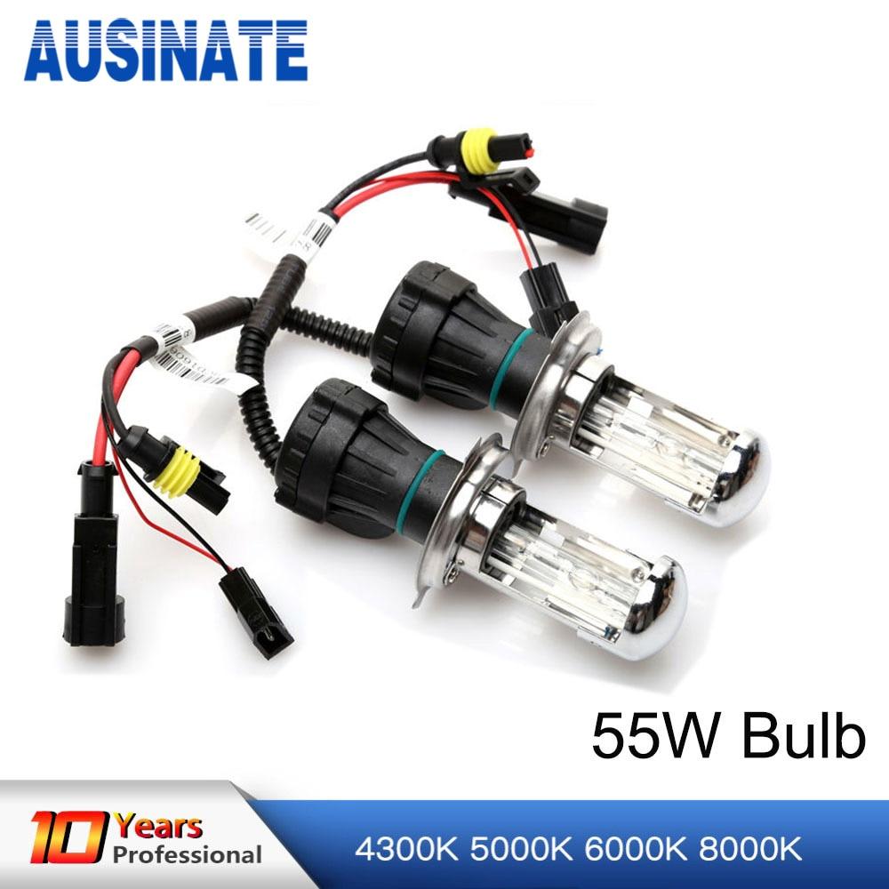 55W H4 Xenon Bulb Replacement For Car Xenon Headlight 4300K 5000K 6000K 8000K