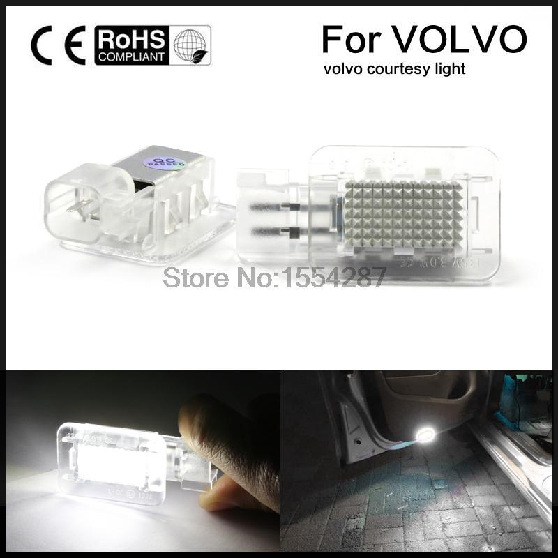 2Pcs 18 LED Boot Under Door Courtesy Light Lamp Bulb For Volvo C30 V70 XC70 XC90 original