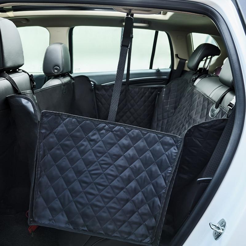 Pawstrip Luxury Black Dog Car Protector Cover Nonslip Zipper Pet Dog Car Seat Hammock Outdoor Dog Car Travel Accessories #3
