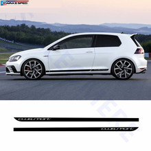 Clubsport Styling Carbon Fiber Decal Car Side Skirt Sticker Automobiles Accessories For Volkswagen Golf 7 MK7(China)