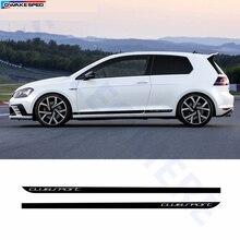 Clubsport style fibre de carbone décalcomanie voiture côté jupe autocollant Automobiles accessoires pour Volkswagen Golf 7 MK7