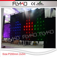 led effect light mini led nightclub projector xxx video play led screen P20 good price backdrops