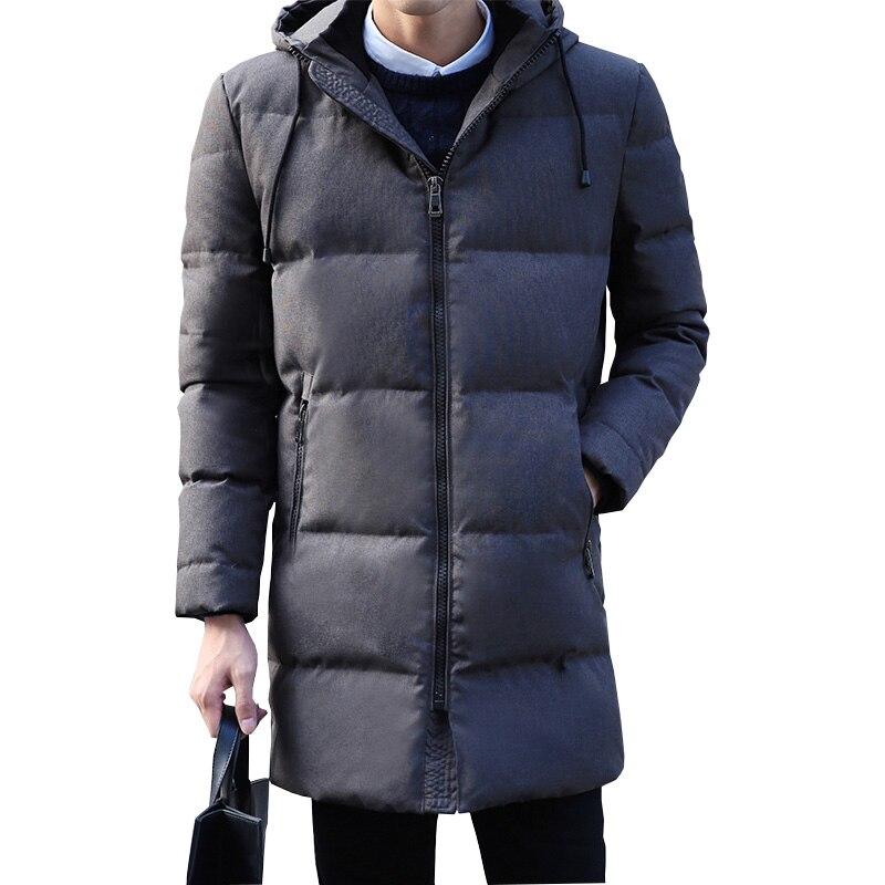 1566a0a7767 90% White duck down hooded men down jacket men s winter thick warm down  jacket overcoat jacket parka men windbreaker coats