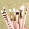 12x Pro Makeup Brushes Set Fundação Sombra Em Pó Delineador Pincel de Lábios Ferramentas