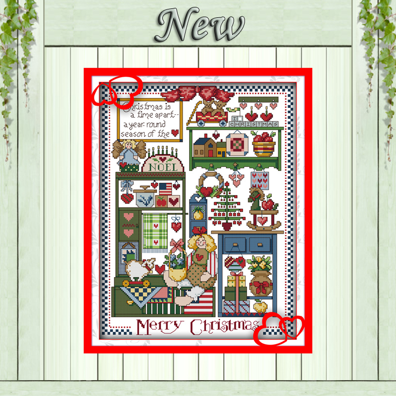 Christmas gifts toy decor paintings counted printed on canvas DMC 11CT 14CT Chinese Cross Stitch kits embroidery needlework Sets