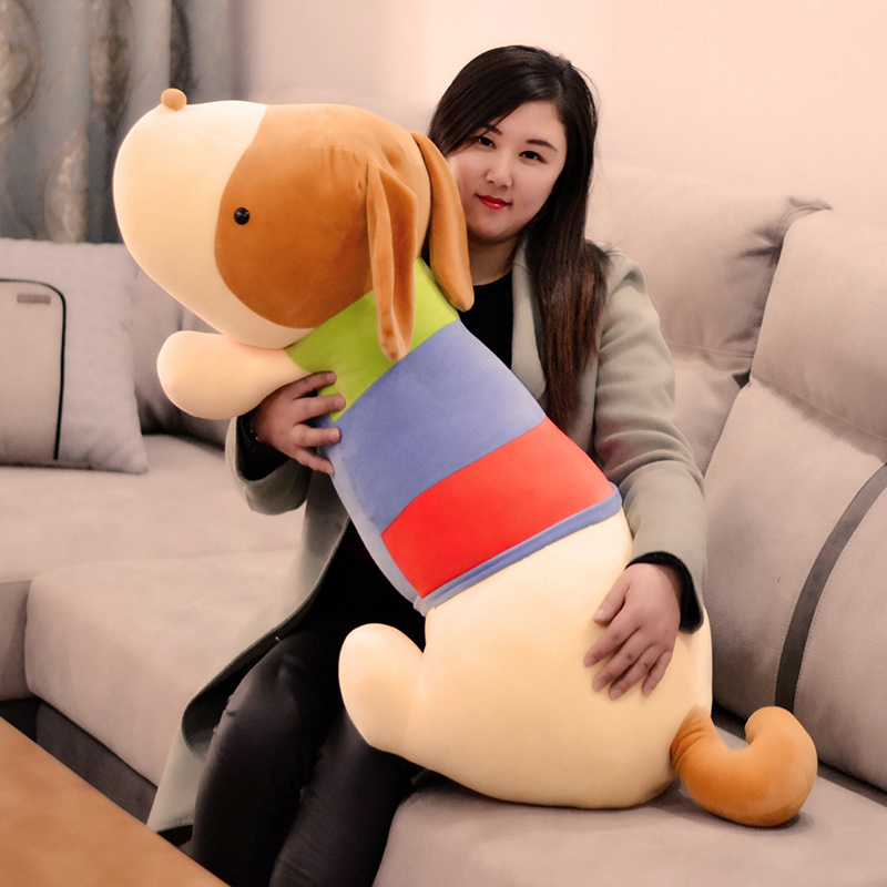 huge plush colourful dog toy soft lying dog pillow doll gift about 100cm картридж hp c8771he 177 голубой psm8253