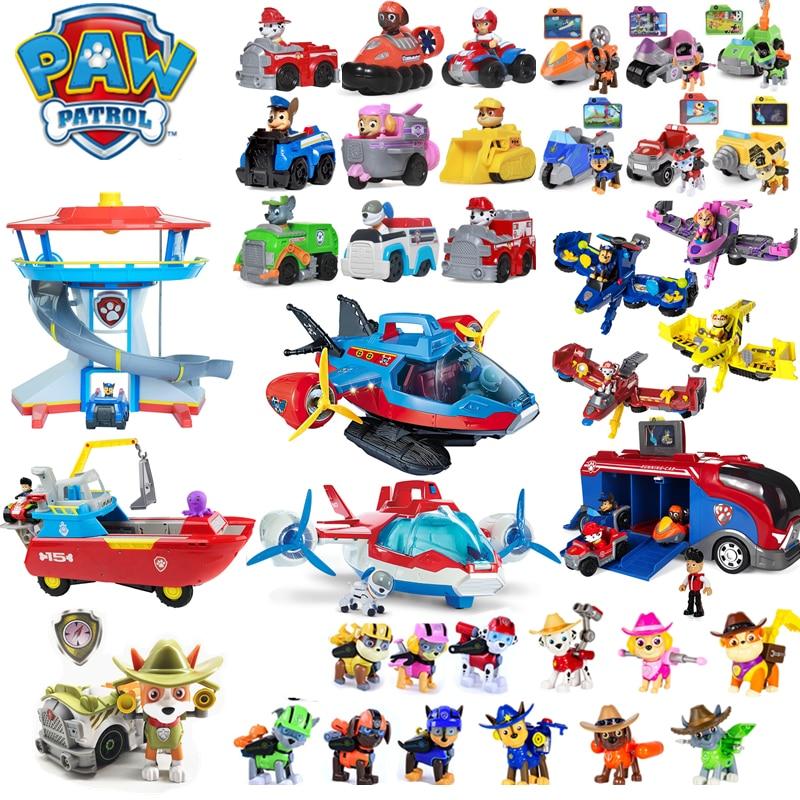 Pat' patrouille chien jouets ensemble complet centre de commande avion Yacht Ferry Tracker Ryder Patrulla Canina figurines d'action Juguetes enfants