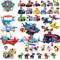 Paw Patrol Dog Toys Full Set Command Center Aircraft Yacht Ferry Tracker Ryder Patrulla Canina Action Figures Juguetes Children