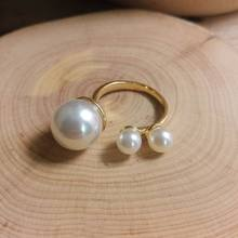 2019 New Statement Pearl Rings For Women Simple Classic Open Ring Adjustable