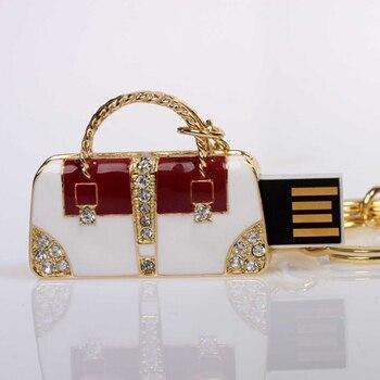 Handbag Design Pen Drive Jewelry USB Flash Drive Pendrive 8GB 16GB 32GB 64GB Memory Card Stick Disk On Key Gift Gifts Creativo