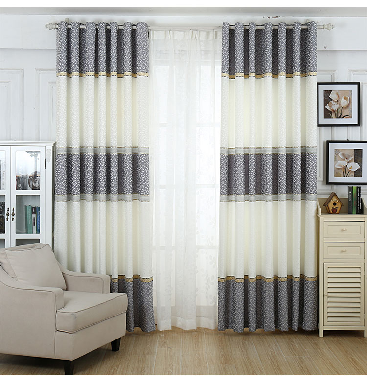 Top Opzionale a quattro colori jacquard a righe tende oscuranti tende  TN92