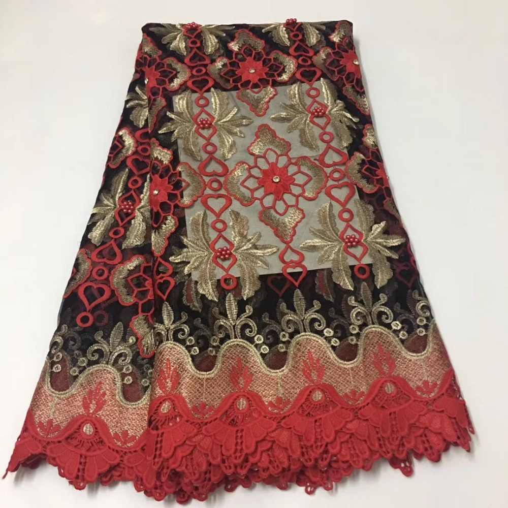 High-end luxury very soft 5 yard African tulle lace fabric high qualityHigh-end luxury very soft 5 yard African tulle lace fabric high quality