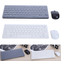 New Arrival Ultra Thin Mini 2 Color 2 4GHz Wireless Keyboard Cover And Mouse Keyboard Mouse