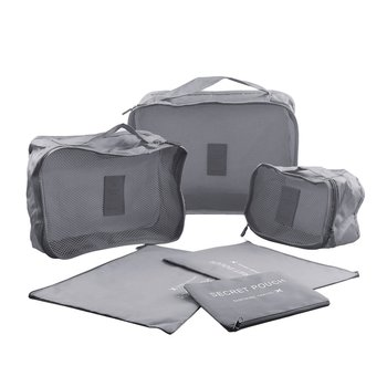 6Pcs/Set Portable Travel Bags Women Pink Nylon Duffle Bag Unisex Large Capacity Luggage Organizer Duffel Bag Men Packing Cubes Shoe Bags