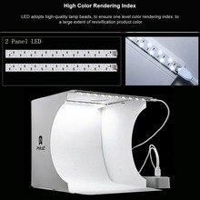 PULUZ Katlanır Lightbox Fotoğraf Fotoğraf Stüdyosu Softbox 1/2 Paneli led ışık Yumuşak Kutu Fotoğraf Arka Plan Kiti ışık kutusu Kamera