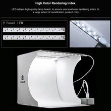 PULUZ caja de luz plegable para estudio fotográfico, Panel de luz LED suave, Kit de fondo fotográfico, caja de luz para cámara, 1/2