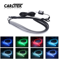 CARLitek Led Atomsphere Light Strip Underglow RGB Decoration Lights Flexible 12V for Universal Car Auto APP/Vocie Control