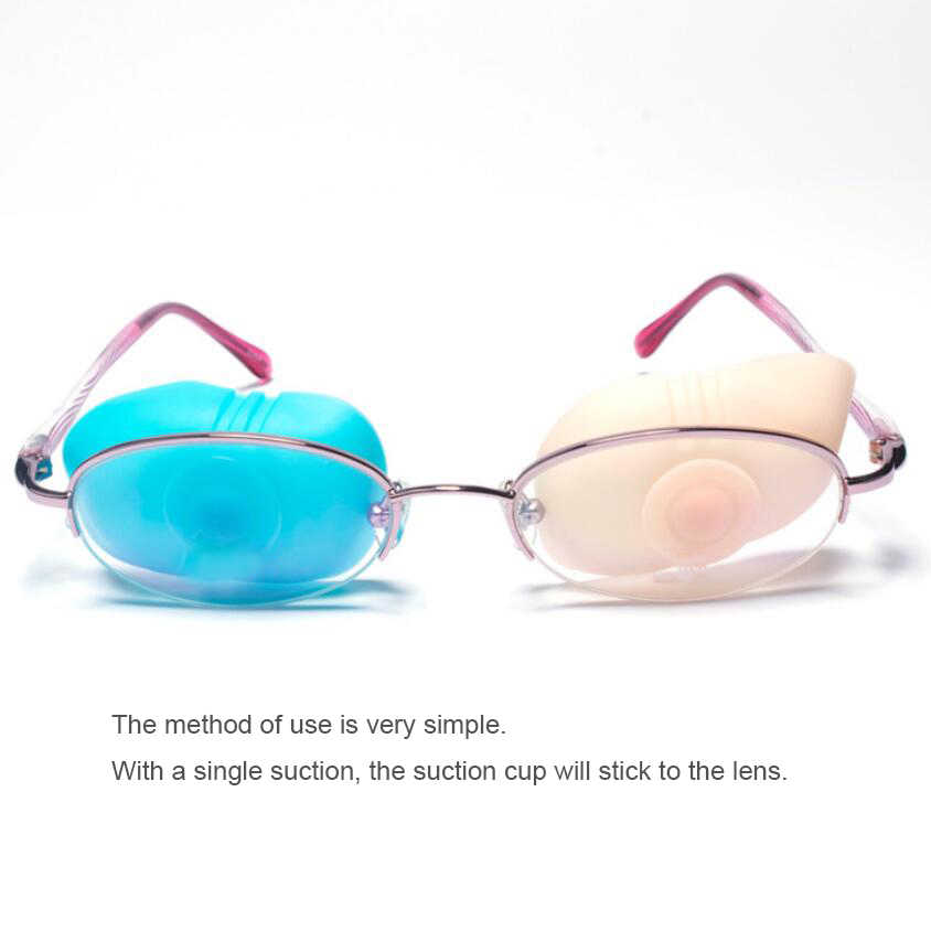 3 pcs 약시 눈 패치 어린이 strabismus 교육 orthoptic eyeshade 어린이 의료 눈 패치 부드러운 실리콘 monocular d40