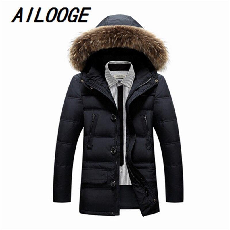2016 New Mens Clothing Winter Jacket Outwear Sleeves Warm Coat Male Solid Men Outwear Coat M-3XL Long With Hood