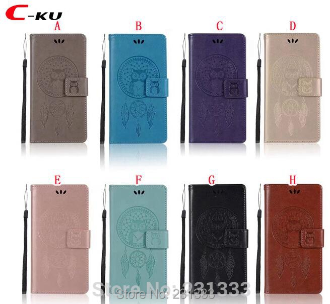 C-ku OWL Wallet Leather Pouch Case For Motorola Moto C PLUS 2017 X4 E4 For Google Pixel XL 2 Strap TPU Stand ID Card Cover 1pcs