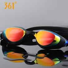 361 สายตาสั้นแว่นตาว่ายน้ำผู้ชายผู้ใหญ่ HD กันน้ำกันน้ำ Anti FOG Prescription ว่ายน้ำแว่นตาอุปกรณ์กีฬา