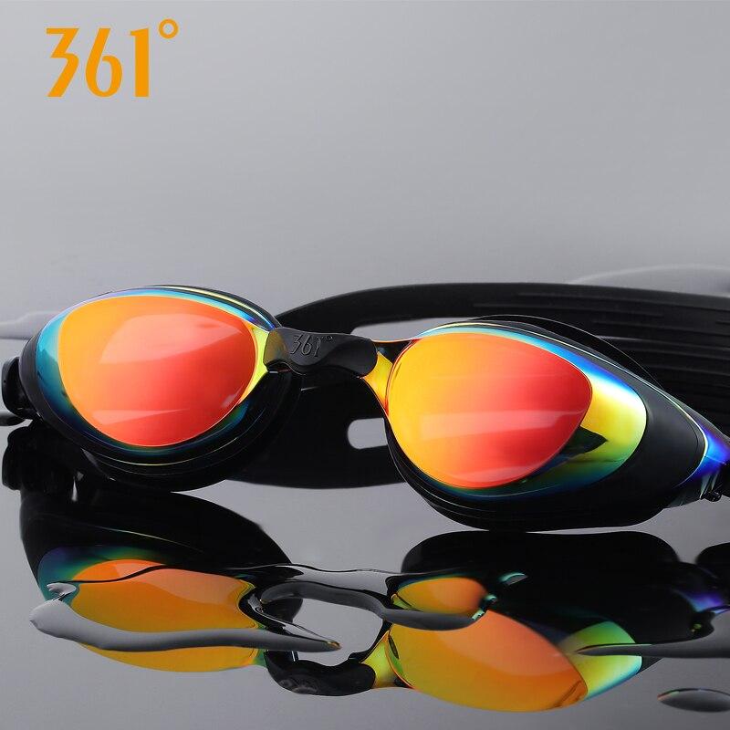 361 gafas de natación miopía hombres y mujeres adultos HD impermeable Anti niebla prescripción gafas de natación equipo deportivoGafas de natación   -