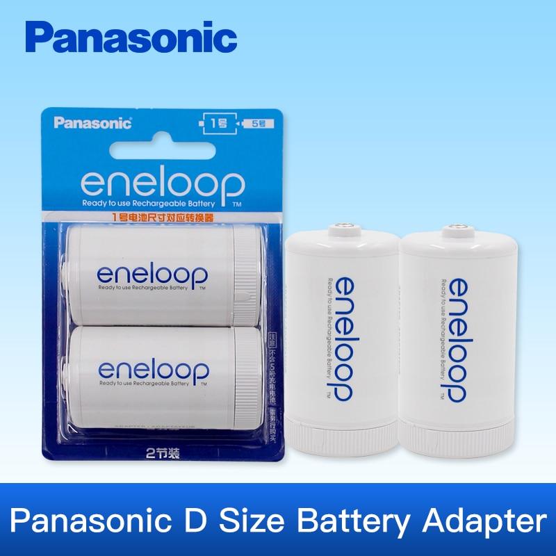Panasonic eneloop Батарея конвертер Труба Адаптер <font><b>AA</b></font> Батареи изменения Размеры D Батареи bq-bs1e/2bc