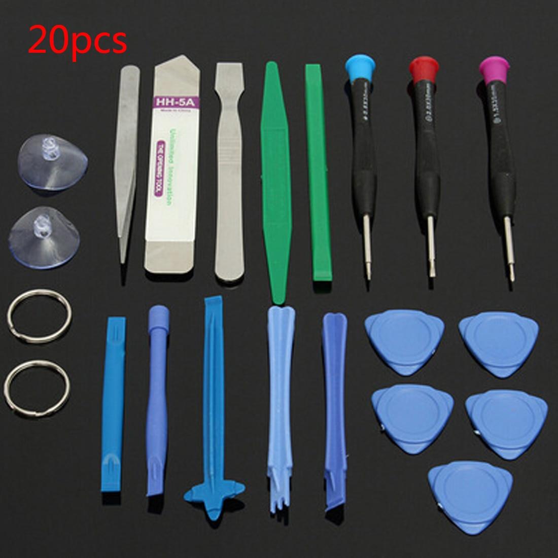 20 In 1 Pry Spudger Screen Opening Tool Outils Screwdriver Tweezers Set Mobile Phone Repair Kit For IPad IPhone 4 4s 5 5s 6 Plus