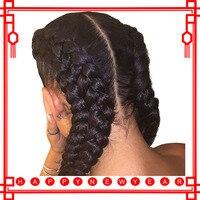Kinky вьющиеся парик предварительно сорвал синтетические волосы на кружеве натуральные волосы Искусственные парики с ребенком волос 130% браз