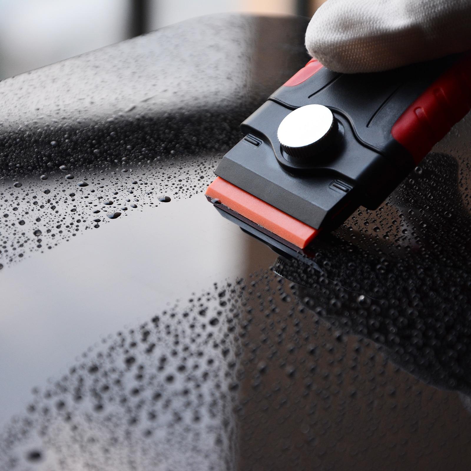 EHDIS Car Tools Window Tint Vinyl Wrap Razor Scraper Ceramic Glass Cleaning Squeegee 5pcs Razor Blade Glue Film Sticker Remover in Scraper from Automobiles Motorcycles