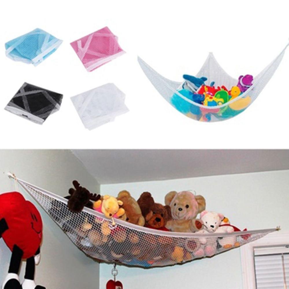 Viseča igračka za shranjevanje igrač 1 poliestrskih igrač, ki vsebujejo viseče lutke, igrače za prirejanje igrač 120x80x80cm bela / črna / roza / modra