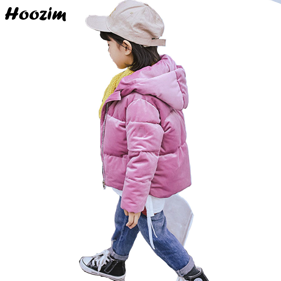 Winter Velour Jacket For Girls 2 4 5 6 7 Years Casual Thick Warm Coat Children Pink Cotton Parka Kids 2018 Autumn Jacket For Boy