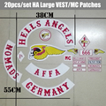 New Arrived 20pcs/set Hells Angels MC Patches for the Motorcycle Club Jacekt  Vest Iron on Germany Patche Biker Label