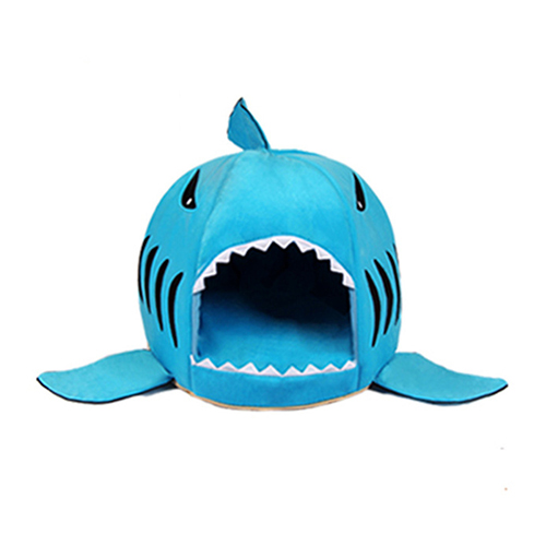 Shark Shaped Dog/Cat Bed House Blue