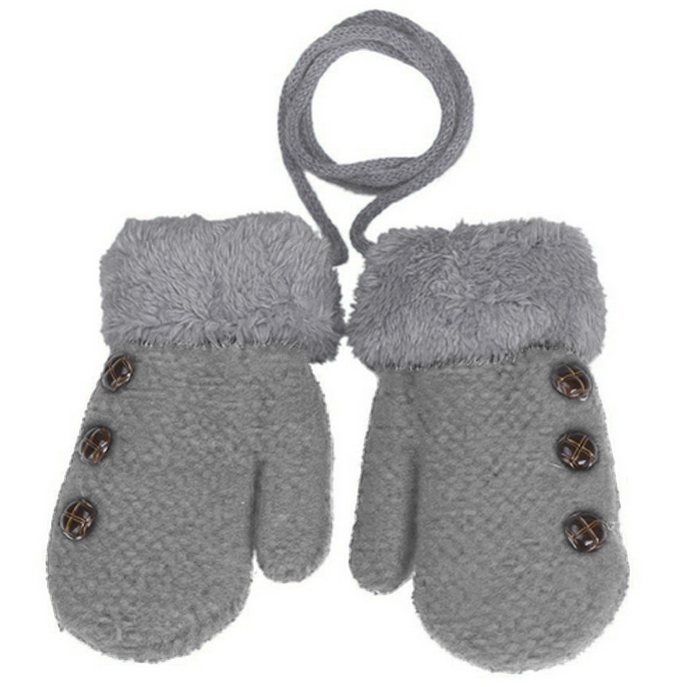 Gehorsam Schöne Winter Handschuhe Gestrickte Baumwolle Kind 2018 Warme Hand Stretchy Handschuhe Vollfinger Kinder Feste Taste 1-3 Y Bequem Und Einfach Zu Tragen