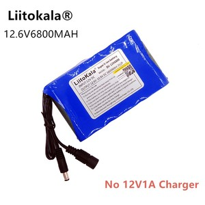 Image 4 - Liitokala portable Super rechargeable lithium ion battery capacity DC 12V mAh 6800 CCTV Cam Monitor