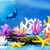 Fish Tank Ornaments Landscape Home Decoration Aquariums 1PC Starfish Coral Artificial Microlandschaft Resion DIY Popular 3