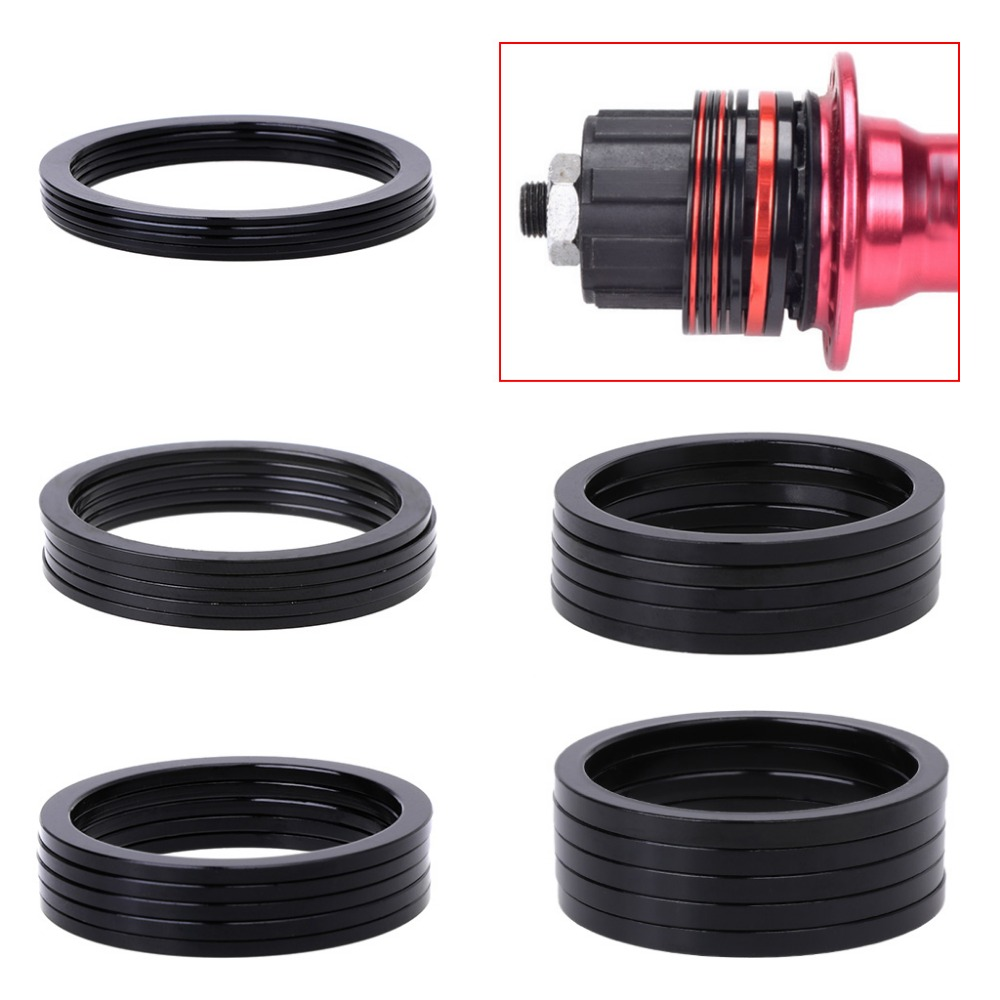 5 Pcs MTB Bicycle Bike Free Wheel Washer Support Buttom Shaft Ultralight Aluminum Alloy