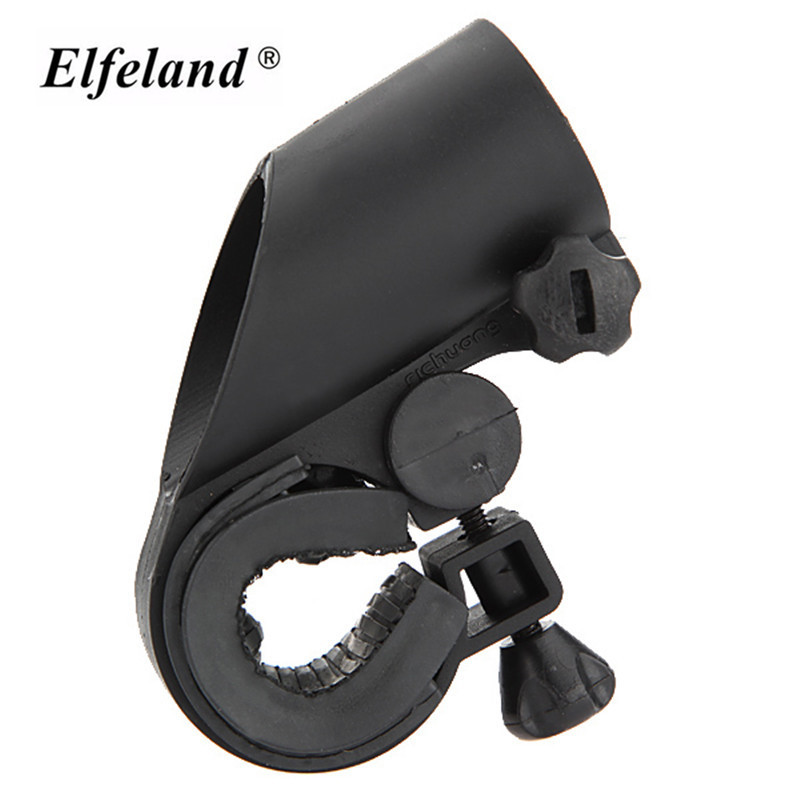 High Quality Multifunction Rotation Cycling Grip Mount Bracket Bike LED Flashlight Torch Clamp Clip Bicycle Light Holder