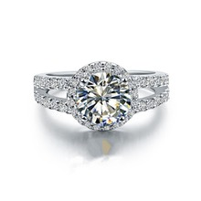 Test Positive! Brilliant Brand CHARLES & COLVARD Moissanite Engagement Jewelry Lab Grown Ring 925 Women 1CT Sterling Silver Ring