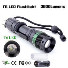 Super Bright LED Flashlight Pen Light 3800 Lumen Torch Lamp CREE XM-L T6 3 Modes Dimmable LED Light for Hunting Camping Outdoors